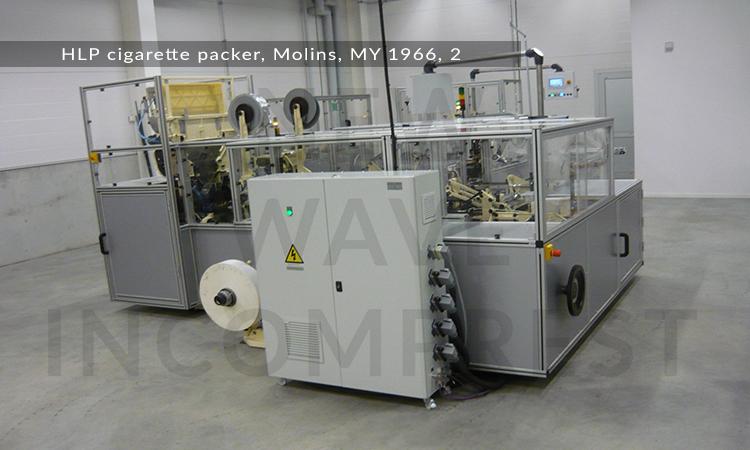 HLP-cigarette-packer,-Molins,-MY-1966,-2